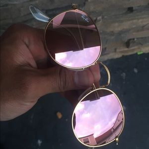 4bacb0e04b0 Ray-Ban Accessories - Ray Ban RB3447 Round Metal 112 Z2 Pink Mirror 50mm